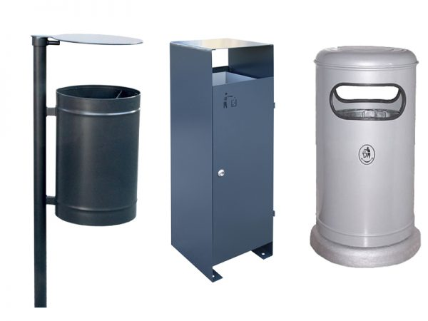 Abfallbehälter aus Stahl
