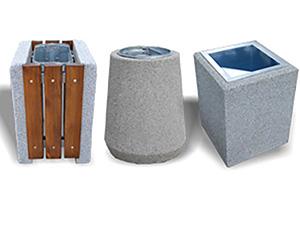 Abfallbehälter aus Beton