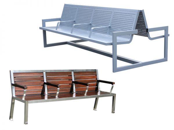 Bänke für Bahnhöfen
