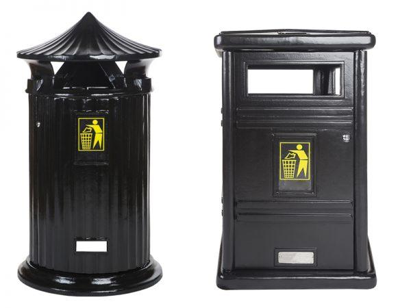 Abfallbehälter aus Gusseisen