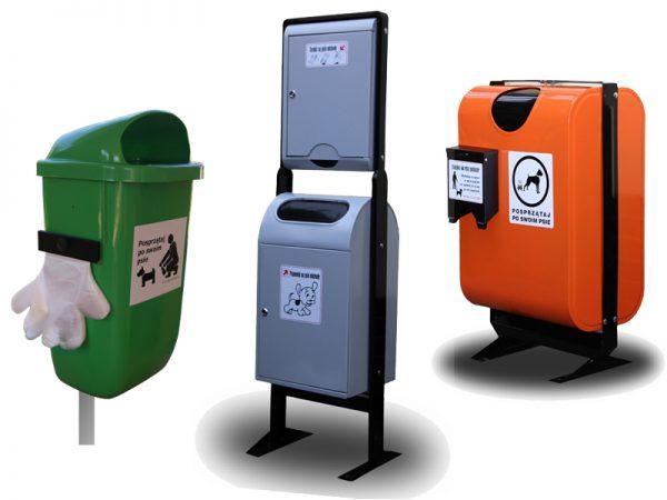 Hundekot-Abfallbehälter